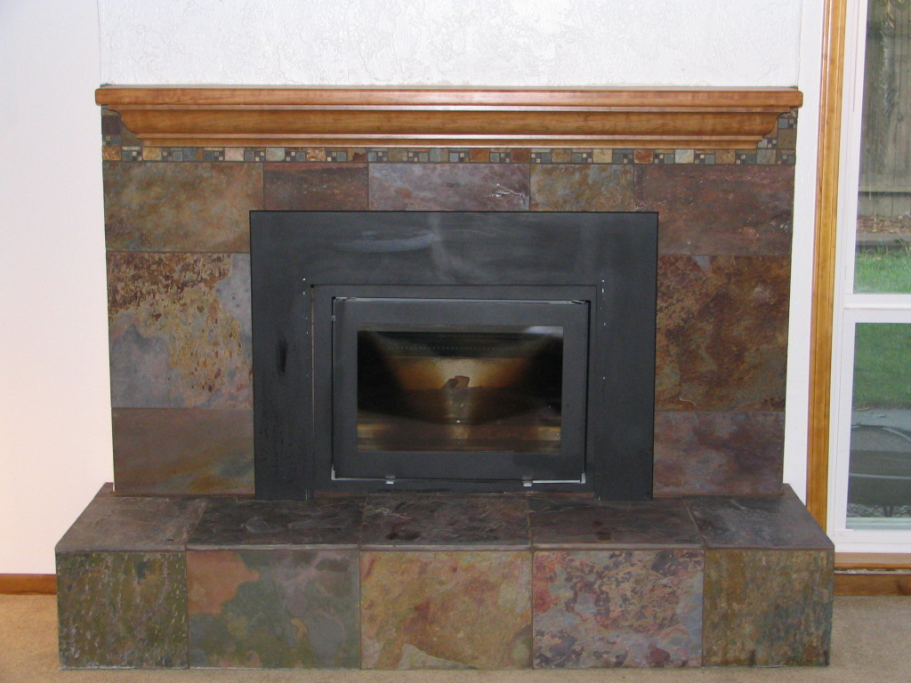 Slate Tile Fireplace Viewing Gallery